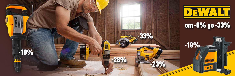 DeWALT с майсторски оферти за машини и инструменти на промо цени до -33%