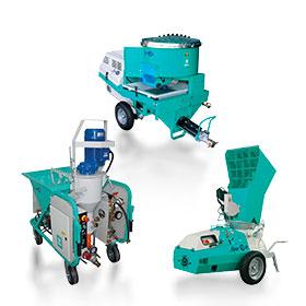 Машини за полагане на строителни смеси