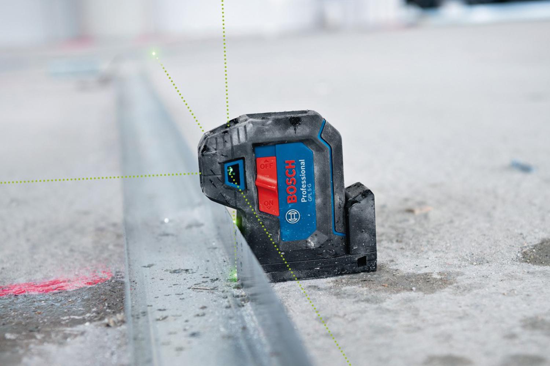 BOSCH GPL 3 G Professional - точковият лазер с отлично видими зелени лазерни точки