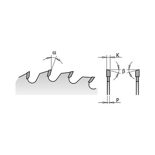Диск с твърдосплавни пластини CMT 130/2.4/20 Z=20, за рязане на мека и твърда дървесина, шперплат - big, 86486
