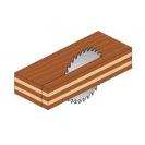 Диск с твърдосплавни пластини CMT 130/2.4/20 Z=20, за рязане на мека и твърда дървесина, шперплат - small, 87855