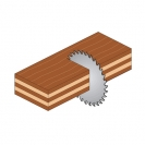 Диск с твърдосплавни пластини CMT 130/2.4/20 Z=20, за рязане на мека и твърда дървесина, шперплат - small, 87856