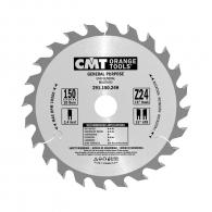 Диск с твърдосплавни пластини CMT 150/2.4/20 Z=24, за рязане на мека и твърда дървесина, шперплат