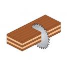 Диск с твърдосплавни пластини CMT 160/2.2/20 Z=24, за рязане на мека и твърда дървесина, шперплат - small, 87867