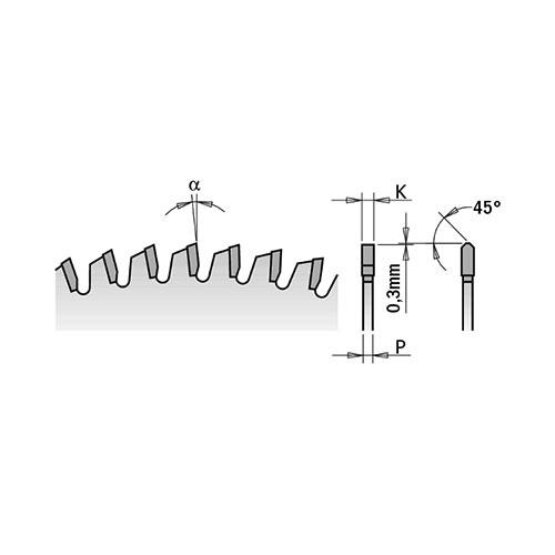 Диск с твърдосплавни пластини CMT 160/2.2/20 Z=40, за рязане на алуминий, месинг, медни сплави, пластмаса, меламин и др. - big, 86523
