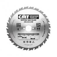 Диск с твърдосплавни пластини CMT 250/2.8/30 Z=24, за рязане на мека и твърда дървесина