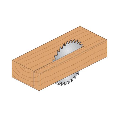 Диск с твърдосплавни пластини CMT 250/2.8/30 Z=24, за рязане на мека и твърда дървесина - big, 87387