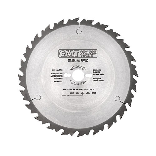 Диск с твърдосплавни пластини CMT 300/3.2/30 Z=24, за рязане на мека и твърда дървесина