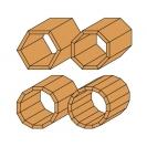 Фрезер за скосяване CMT D=22.2мм L=55мм I=10мм А=25° S=8мм Z=2, за дърво, HW, RH, с лагер - small, 21745