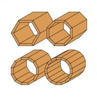 Фрезер за скосяване CMT D=22.2мм L=55мм I=10мм А=25° S=8мм Z=2, за дърво, HW, RH, с лагер