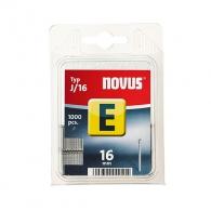 Гвоздей за такер NOVUS 1.2х16мм, тип J/E, 1000бр./блистер