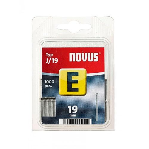 Гвоздей за такер NOVUS J/19мм, тип J/Е, 1000бр./блистер