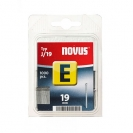 Гвоздей за такер NOVUS 1.2х19мм, тип J/Е, 1000бр./блистер - small
