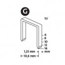 Кламери NOVUS 11/10мм, тип 11/G, плоска тел, 600бр/блистер - small, 94116