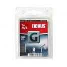 Кламери NOVUS 11/8мм, тип 11/G, плоска тел, 1200бр/блистер - small