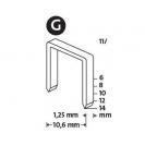 Кламери NOVUS 11/8мм, тип 11/G, плоска тел, 1200бр/блистер - small, 94013