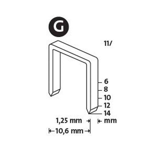 Кламери NOVUS 11/8мм, тип 11/G, плоска тел, 1200бр/блистер - big, 94013