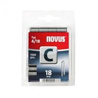 Кламери NOVUS 4/18мм, тип 4/C, с тесен гръб, 1100бр/блистер