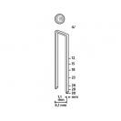 Кламери NOVUS 4/18мм, тип 4/C, с тесен гръб, 1100бр/блистер - small, 94326