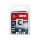 Кламери NOVUS 4/26мм 1100бр., тип 4/C, с тесен гръб, блистер - small