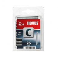 Кламери NOVUS 4/26мм, тип 4/C, с тесен гръб, 1100бр/блистер