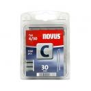 Кламери NOVUS 4/30мм, тип 4/C, с тесен гръб, 1100бр/блистер - small