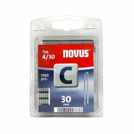 Кламери NOVUS 4/30мм, тип 4/C, с тесен гръб, 1100бр/блистер