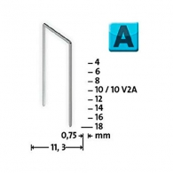 Кламери NOVUS 53/4мм, тип 53/А, тънка тел, 2000бр/блистер