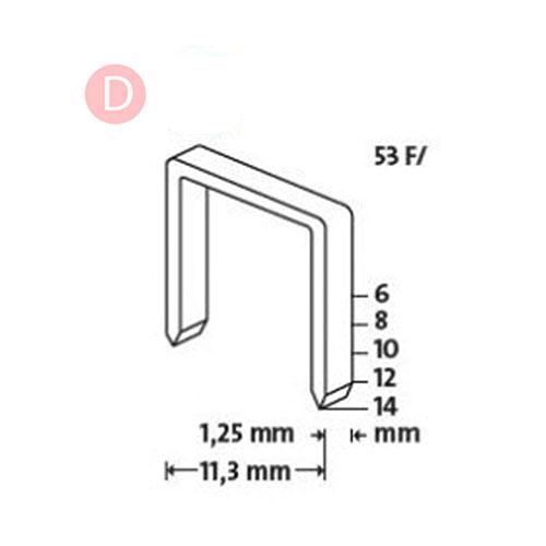 Кламери NOVUS 53F/12мм, тип 53F/D, плоска тел, 600бр/блистер - big, 94348