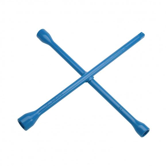Ключ за джанти кръстат UNIOR 17x19x21x23мм, CrV, вътрешен шестостен-квадрат, закален, лакиран