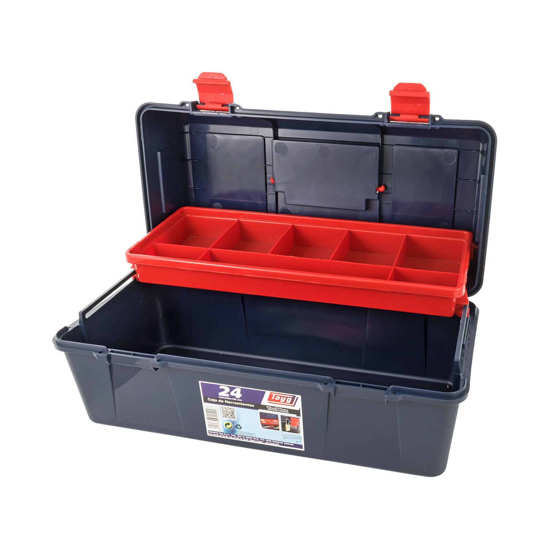 Куфар за инструменти TAYG 24, с една тава, полипропилен, син