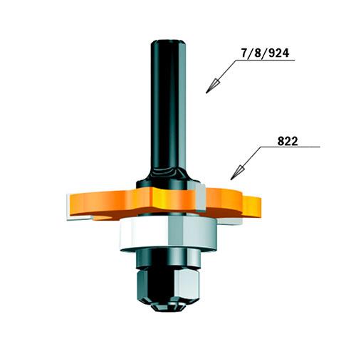 Нут фрезер CMT D=47.6мм, I=2мм, P=1.27мм, B=8мм, HW, Z3, RH - big, 18499