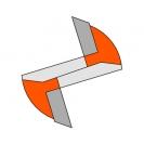 Прав фрезер CMT D=12мм I=31.7мм L=60мм S=8мм Z=2, HW, RH - small, 19662