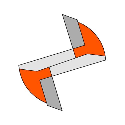 Прав фрезер CMT D=16мм I=20мм L=57мм S=8мм Z=2, HW, RH - big, 19800