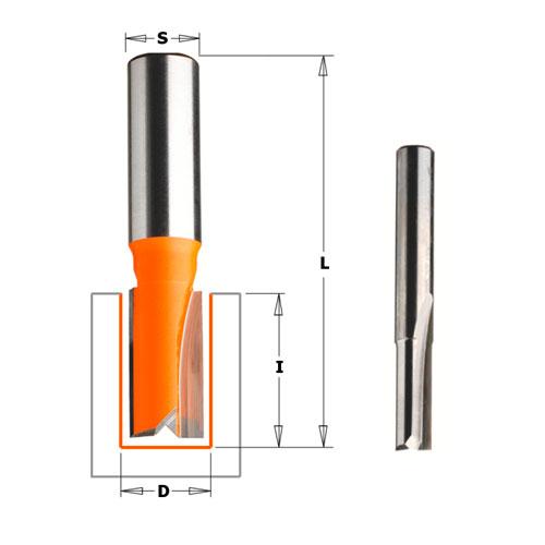 Прав фрезер CMT D=22мм I=20мм L=57мм S=8мм Z=2, HW, RH - big, 18704