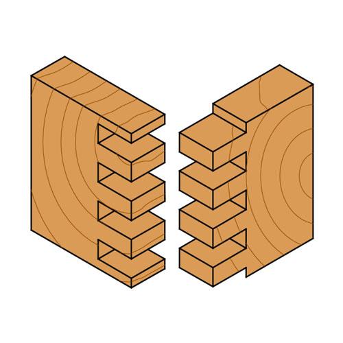 Прав фрезер CMT D=22мм I=20мм L=57мм S=8мм Z=2, HW, RH - big, 18713