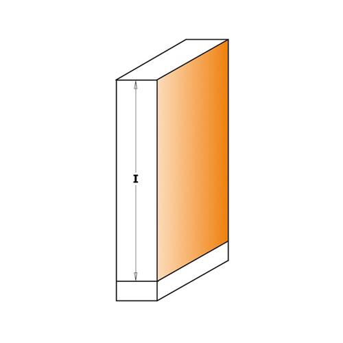 Прав фрезер с лагер CMT D=12.7мм I=50.8мм L=104мм S=12мм Z=2, HW, RH - big, 19134