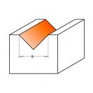 Профилен фрезер CMT D=12.7мм L=44мм A=90° I=12.7мм S=8мм Z=2, HW, RH - small, 19483