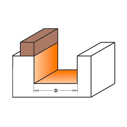 Профилен фрезер CMT D=16мм L=54мм I=19мм S=8мм Z=2, HW, RH - big, 19480