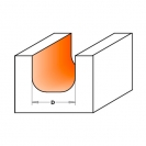 Профилен фрезер CMT D=31.7мм L=60мм R=6.4мм I=16мм S=12мм Z=2, HW, RH - small, 19486