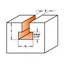 Профилен фрезер CMT D=9.5мм d=4.8мм L=54мм I=11мм S=8мм Z=1, HW, RH - small, 18845