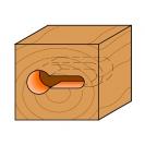 Профилен фрезер CMT D=9.5мм d=4.8мм L=54мм I=11мм S=8мм Z=1, HW, RH - small, 18846