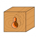 Профилен фрезер CMT D=9.5мм d=4.8мм L=54мм I=11мм S=8мм Z=1, HW, RH - small, 19392