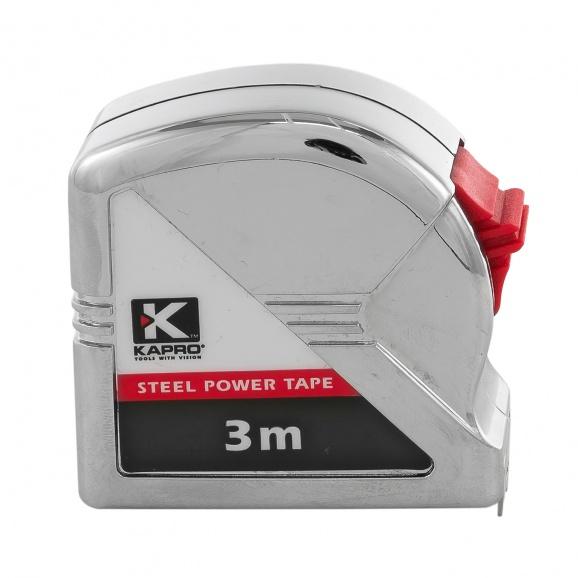 Ролетка пласмасов корпус KAPRO 500 Measuring 3м x 16мм, хромиран