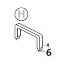 Такер механичен NOVUS J-021, за кламери тип: H 4-6мм - small, 48324