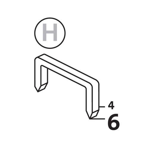 Такер механичен NOVUS J-021, за кламери тип: H 4-6мм - big, 48324