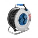 Удължител на макара TAYG Metal 50м, 3х2.5, H05VV-F, 3 монофазни контакта, IP55 - small, 146042
