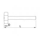 Чук пластмасов UNIOR ф40мм, с дървена дръжка - small, 16629