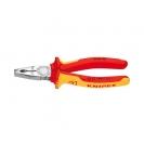 Клещи комбинирани KNIPEX 180мм, ф2.2/3.4мм, ф12мм/16мм2, CS, двукомпонентна дръжка, 1000V - small