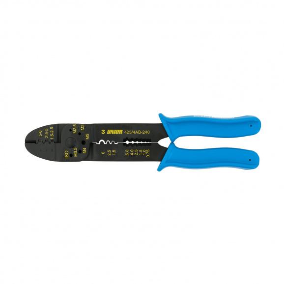 Клещи за кабелни обувки UNIOR 1.5-6.0мм2, за неизолирани кабелни обувки, еднокомпонентни дръжки